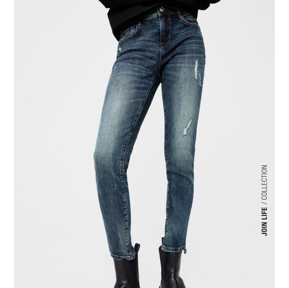 NWOT Zara Mid rise skinny jeans Sz 4